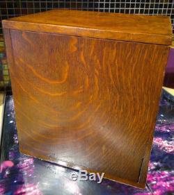 C1880 Victorian Safe Smokers CabinetTiger OakDesktop Stationary Box