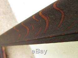 C1900 Dark Fumed QUARTER SAWN Solid TIGER OAK Mission Arts Crafts 14 x 17 Frame