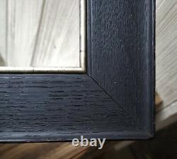 C1900 Excellent Wide Ebonized Tiger Oak Mission Arts Crafts Miniature Frame