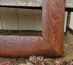 C1900 Huge Stickley Roycroft Wide Tiger Oak Mission Arts Crafts 20 x 30 Frame