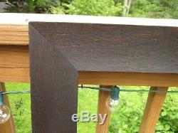 C1900 Large Dark Fumed Quarter Sawn Tiger Oak Mission Arts Crafts 25 x 32 Frame