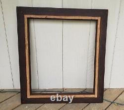 C1900 Outstanding Fumed Quarter Sawn Tiger Oak Mission Arts Crafts 22 x 26 Frame