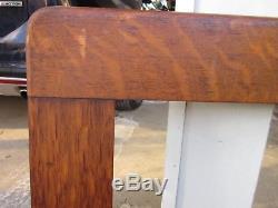 C1900 Outstanding Large WIDE ROYCROFT SOLID TIGER OAK Mission Arts Crafts Frame