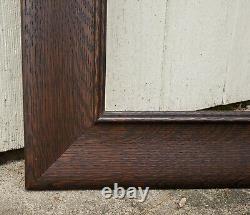 C1900 Outstanding Large Wide Fumed Quarter Sawn Tiger Oak Mission Art Crafts Frm