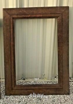 C1900 Quarter Sawn Solid Tiger Oak Mission Arts Crafts Frame 20x27.5
