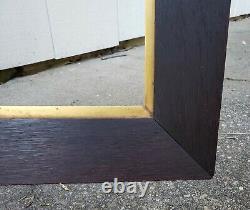 C1900 Wide Dark Fumed Quarter Sawn Tiger Oak Mission Arts Crafts 14 x 21 Frame