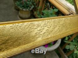 C1930 American Whistler Boston School Arts Crafts Gilded Flat Panel Tiger Oak Fr