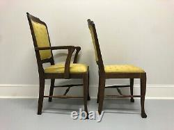 Circa 1900 Antique Quartersawn Tiger Oak Dining Chairs Set of 6