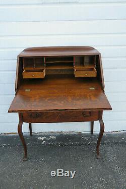 Early 1900s Tiger Oak Secretary Desk 1015