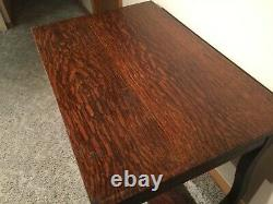 Empire Tiger Oak Library Table Desk with drawer