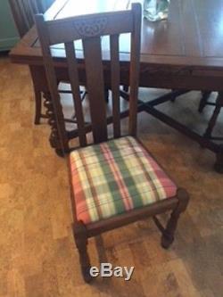 English Antique Tiger Oak Barley Twist Draw Leaf Pub Table Amp 4 Original Chairs