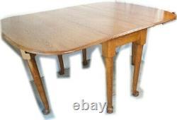 FANTASTIC British Beauty TIGER OAK Antique Drop Leaf Table Gate Leg TABLE