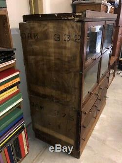 Fantastic Quarter-sawn Tiger Oak Barrister Bookcase & Drawers General Store