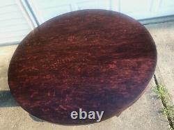 Free Ship Nj/nyc/phily Area Mission Tiger Oak Round Table Stickley Era Antique