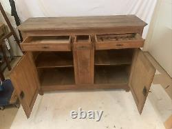 French Antique Louis XV Tiger Oak Sideboard Chest Buffet Server 19th C Carved