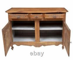 French Antique Louis XV Tiger Oak Sideboard / Server / Buffet c 1880