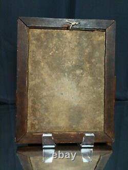 GREAT PATINA 11 x 14 Antique Quarter Sawn Tiger Oak Mirror Mission Arts Crafts