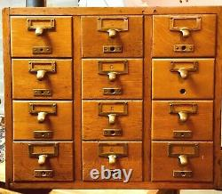 Globe-Wernicke 12 Drawer Apothecary Cabinet