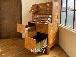 Globe Wernicke Antique Oak Stacking Filing Cabinet File Flat Locking Tiger Oak