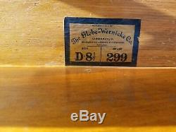 Globe Wernicke Tiger Oak Bookcase Section D 8 1/2 299 Grade (23-19)