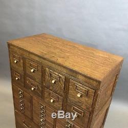 Globe Wernicke Tiger Oak and Brass Multi Drawer Office Cabinet