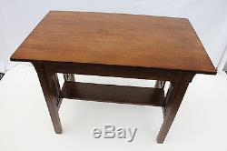 Great Mission Tiger Oak Desk Writing Table With One Drawer, c. 1900