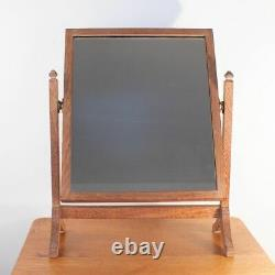 Heals Arts and Crafts Limed Tiger Oak Dressing Table Mirror