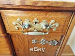 Magnificent Antique Tiger Oak Dresser Quarter Sawn OAK