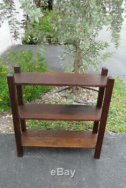Mission Arts and Crafts Tiger Oak Small Narrow Bookcase Display Shelves 1032