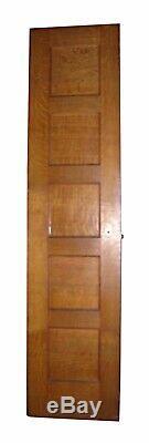 Narrow Tiger Oak 5 Panel Passage Door 83.625 x 24 Free Shipping