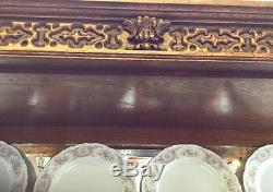 Oak China Cabinet 1920's Tiger Oak PRICE REDUCED TO $574.00