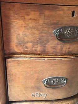 Original Beautiful Antique Heavily Carved Tiger Oak Vanity Princess Dresser 1900