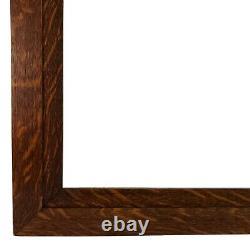 Outstanding Large Fumed Quarter Sawn Tiger Oak Wood Frame 38 x 28.25