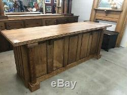 Quarter Sawn Oak Front Bar Kitchen Island Tiger Oak