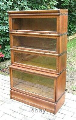 RARE MACEY Quartersawn Tiger Oak Step Back BARRISTER STACKING LAWYERS BOOKCASE