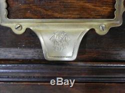Rare Antique Tiger Oak Multi File / Library Card Cabinet Yawman & Erbe Co