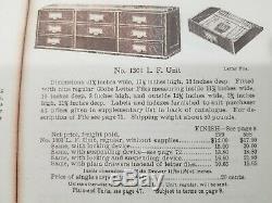 Rare Globe Wernicke 41 1/2 Letter File Section (61-19)