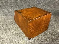 Rare Globe Wernicke Tiger Oak Desktop Caddy Organizer