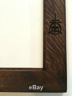 Roycroft Arts&crafts/mission Style Tiger Oak Frame Rala Double R Mark-nice