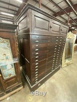 STUNNING antique Tiger Oak 30 Drawer Blueprint Flat File Cabinet 76x61x30