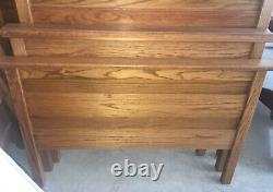 Set Of Twin Antique Beds/ Ornate Cravings Circa 1900's Oak Rails Included