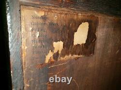 Shipping Avail. Solid quarter sawn tiger Oak 3 Door Bookcase 12 shelve 2 key