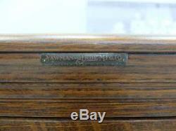 Signed Yawman & Erbe 20 Drawer Bank Of 5 Tiger Oak Vertical File Cabinet System