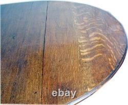 Solid British TIGER OAK Antique Drop Leaf Table Gate Leg English Import
