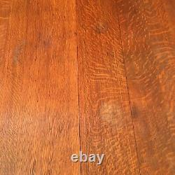 Square Oak Lion Claw Foot Table Rollers Antique Dining Banquet Tiger Oak