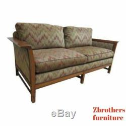 Stickley Tiger Oak Mission Arts Crafts Sofa Couch Settee B