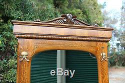 Superb Large Solid Tiger Golden Oak Hall Tree Ca. 1890's