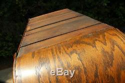 Superb Victorian Golden Tiger Oak Domed Top Armoire Wardrobe Ca. 1890's