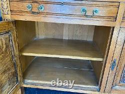 TIGER OAK Antique Server / Side Board / Buffet Credenza
