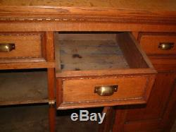 Tiger Oak Mission Chest, Buffet Cabinet, Brass Hardware, Large size Gorgeous